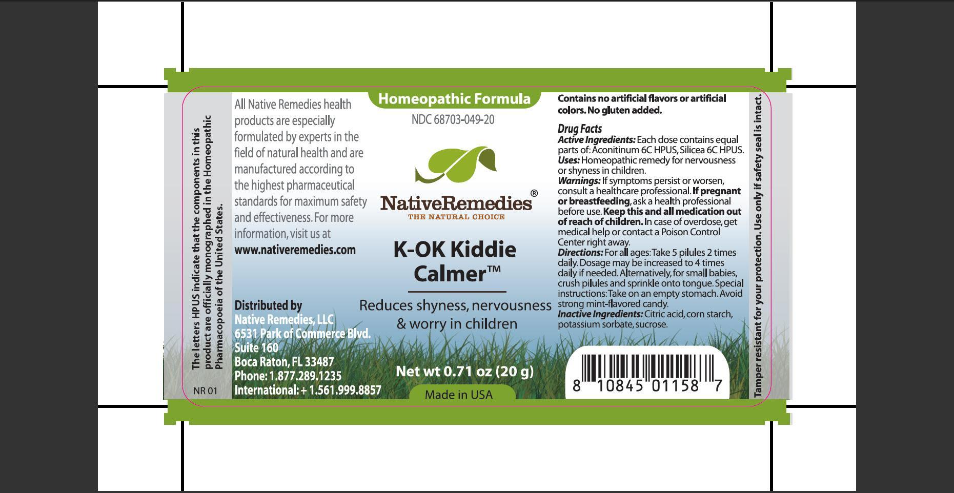 K-ok Kiddie Calmer (Aconitinum, Silicea) Granule [Native Remedies, Llc]