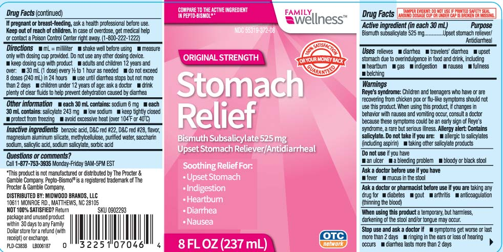 Stomach Relief Original Strength (Bismuth Subsalicylate) Liquid [Family Dollar (Family Wellness)]