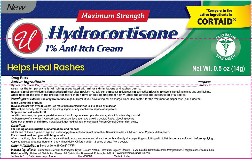 Hydrocortisone Anti-itch (Hydrocortisone) Cream [Universal Distribution Center Llc]