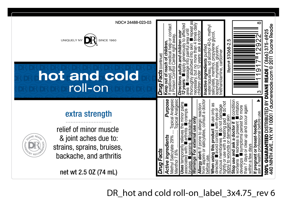 Duane Reade Hot And Cold Roll-on (Methyl Salicylate And Menthol) Gel [Duane Reade]