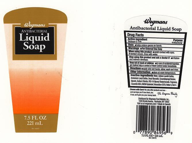 Wegmans Antibacterial (Triclosan) Liquid [Wegmans Food Markets Inc.]