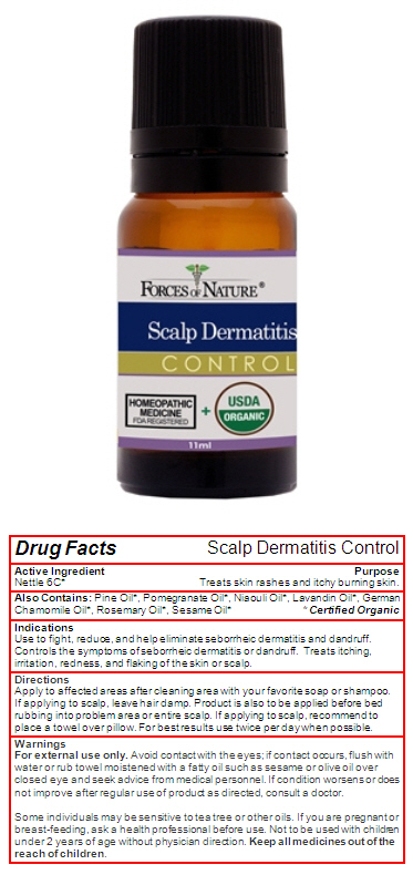 Scalp Dermatitis (Urtica Dioica) Solution/ Drops [Forces Of Nature]