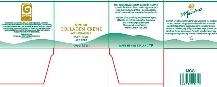 Merino Collagen Spf 30 (Octinoxate, Oxybenzone) Cream [Merino Lanolin Skin Care Products]
