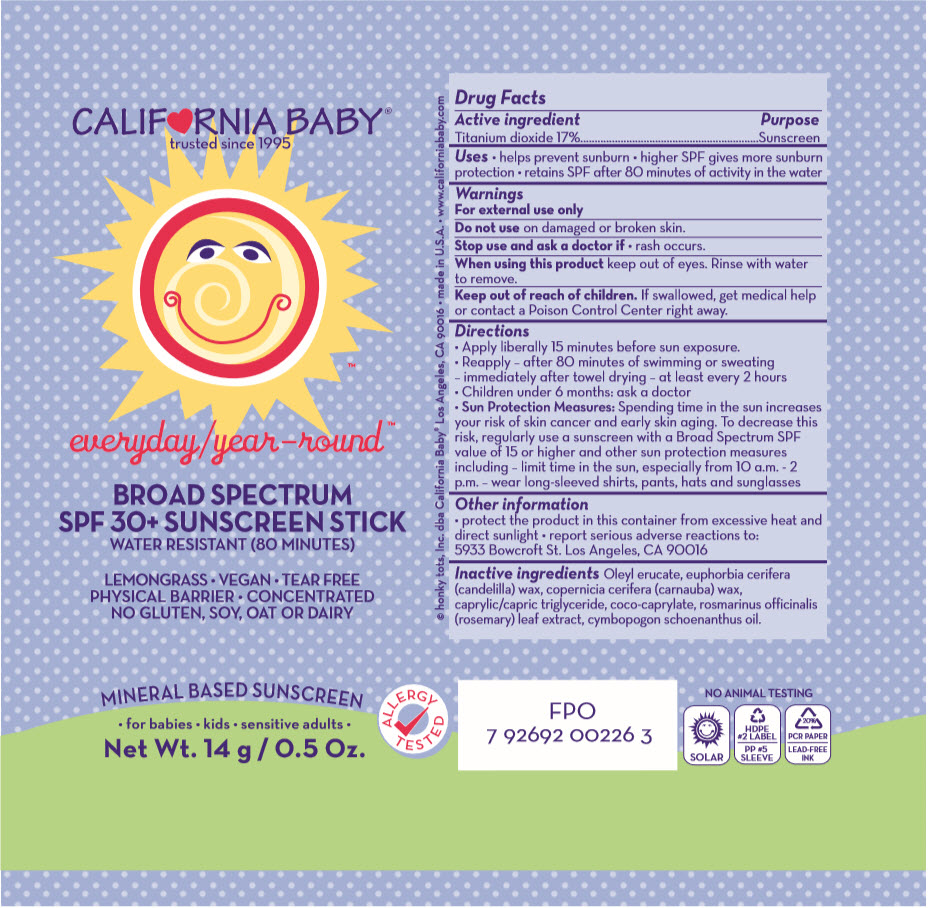 Spf30 Everyday/year-round Sunscreen (Titanium Dioxide) Stick [Organic & Sustainable Beauty]