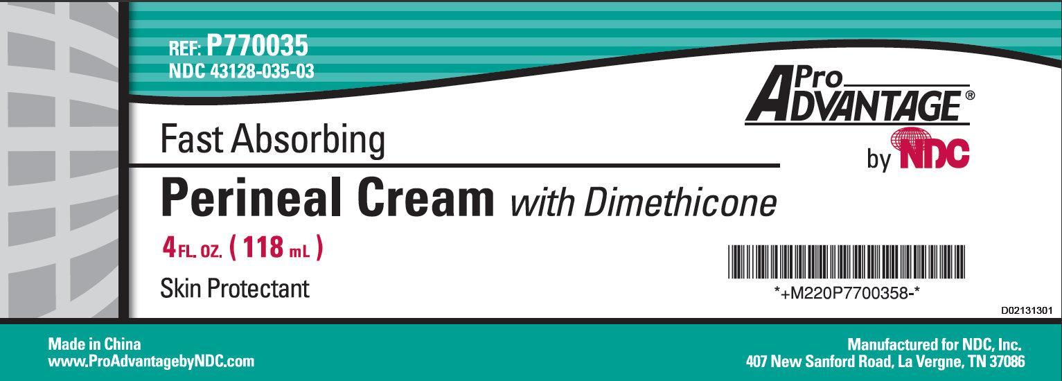 Pro Advantage Fast Absorbing Perineal With Dimethicone Skin Protectant (Dimethicone) Cream [Ndc National Distribution & Contracting, Inc.]