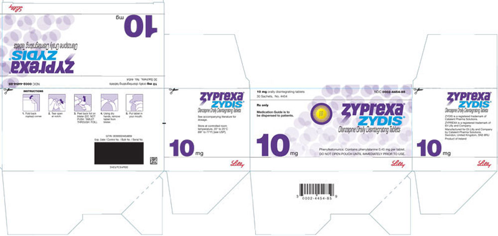 PACKAGE LABEL - ZYPREXA ZYDIS 10 mg tablet, 30 sachets