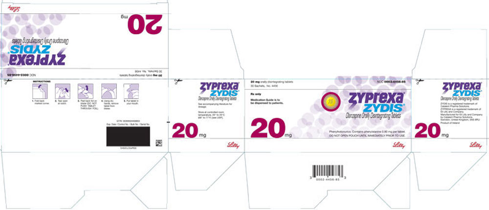 PACKAGE LABEL - ZYPREXA ZYDIS 20 mg tablet, 30 sachets, trade