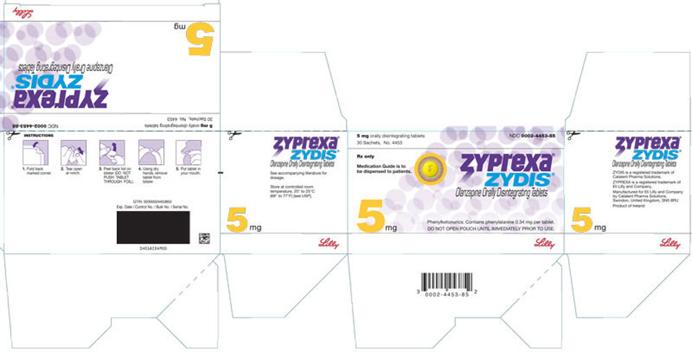 PACKAGE LABEL - ZYPREXA ZYDIS 5 mg tablet, 30 sachets