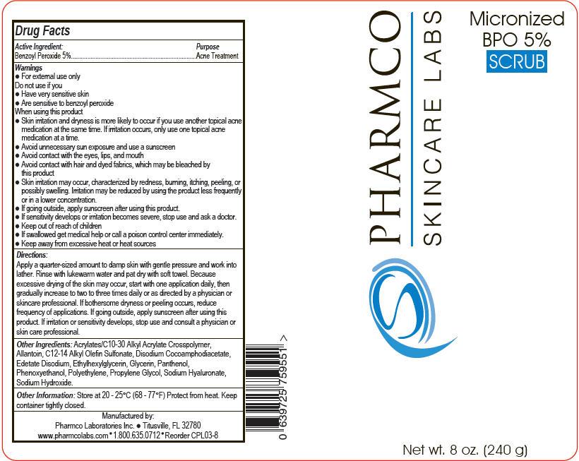 Micronized Bpo Scrub (Benzoyl Peroxide) Gel [Pharmco Laboratories Inc.]