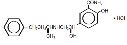 labetalol hcl structural formula