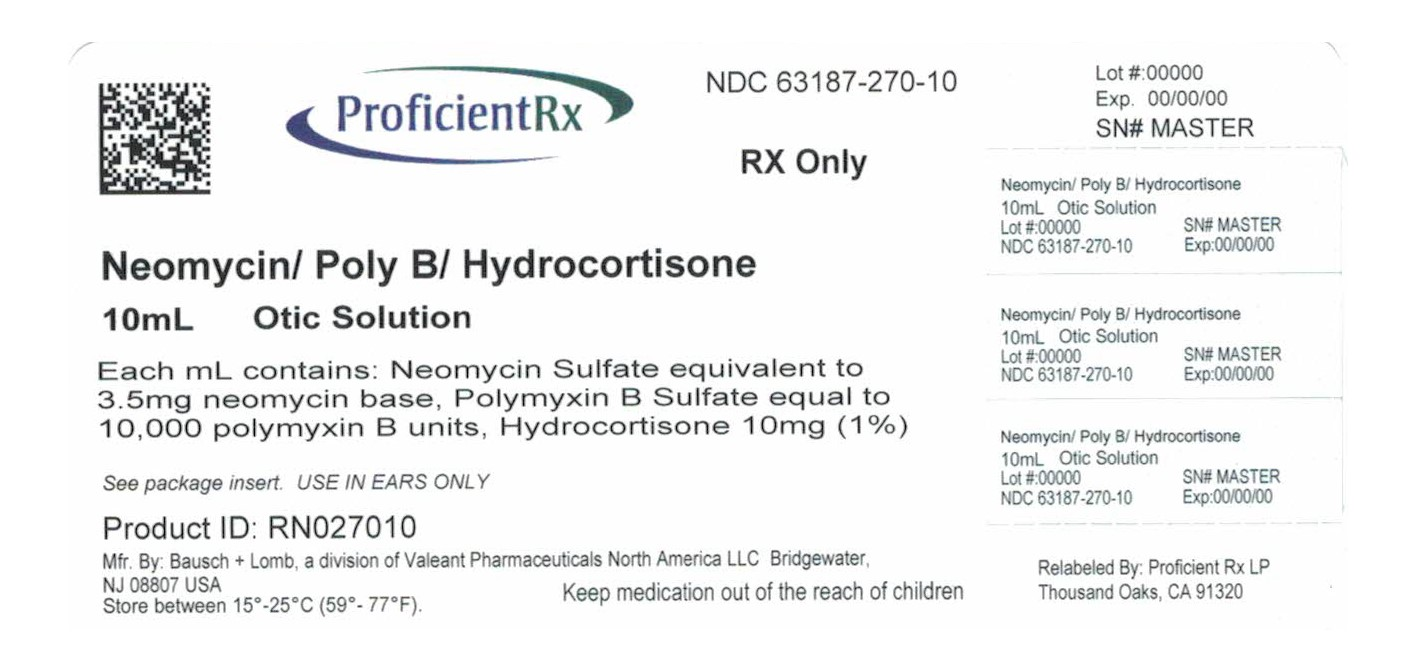 Neomycin And Polymyxin B Sulfates And Hydrocortisone (Neomycin Sulfate, Polymyxin B Sulfate, Hydrocortisone) Solution/ Drops [Proficient Rx Lp]