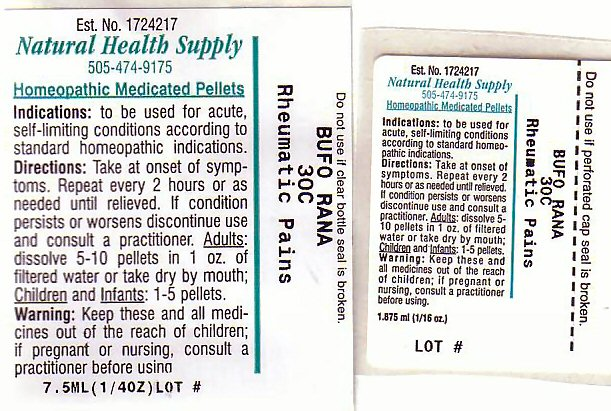 Rheumatic Pains (Bufo Bufo Cutaneous Gland) Pellet [Natural Health Supply]