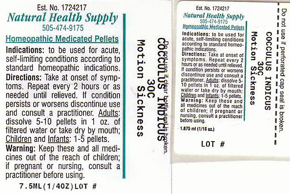 Motion Sickness (Anamirta Cocculus Seed) Pellet [Natural Health Supply]