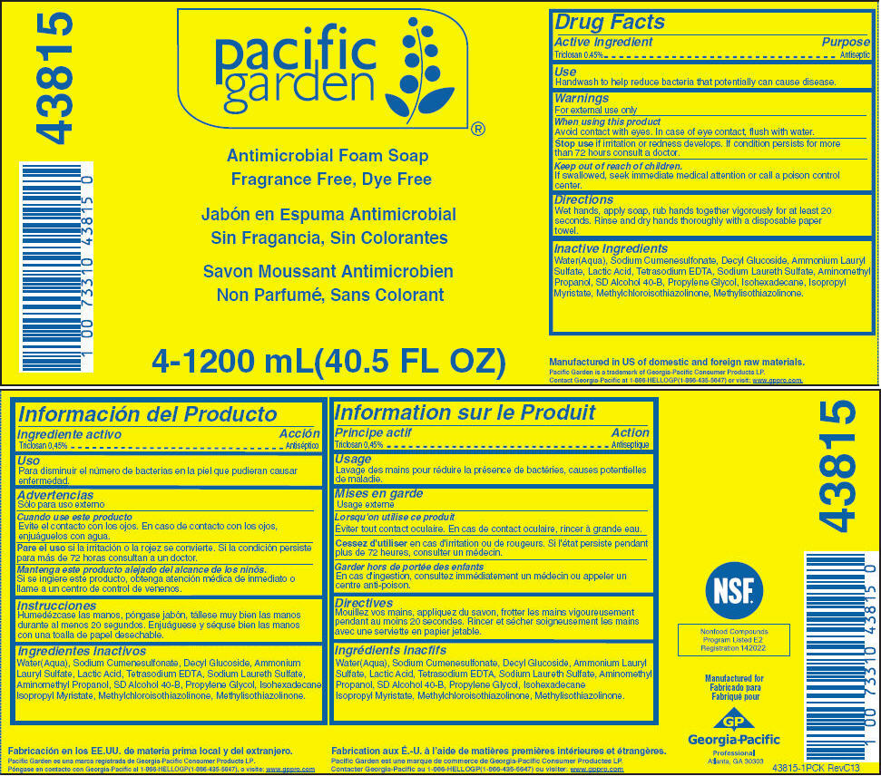 Pacific Garden Antimicrobial, Fragrance Free, Dye Free (Triclosan) Soap [Georgia-pacific Consumer Products Lp]
