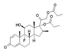 image of Betamethasone dipropionate chemical structure