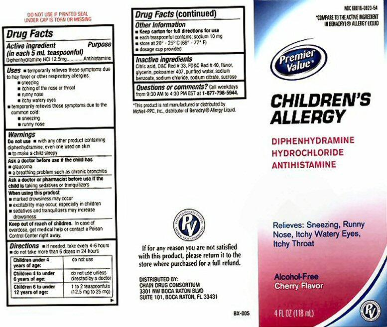 Childrens Allergy (Diphenhydramine Hydrochloride) Liquid [Chain Drug Consortium, Llc]