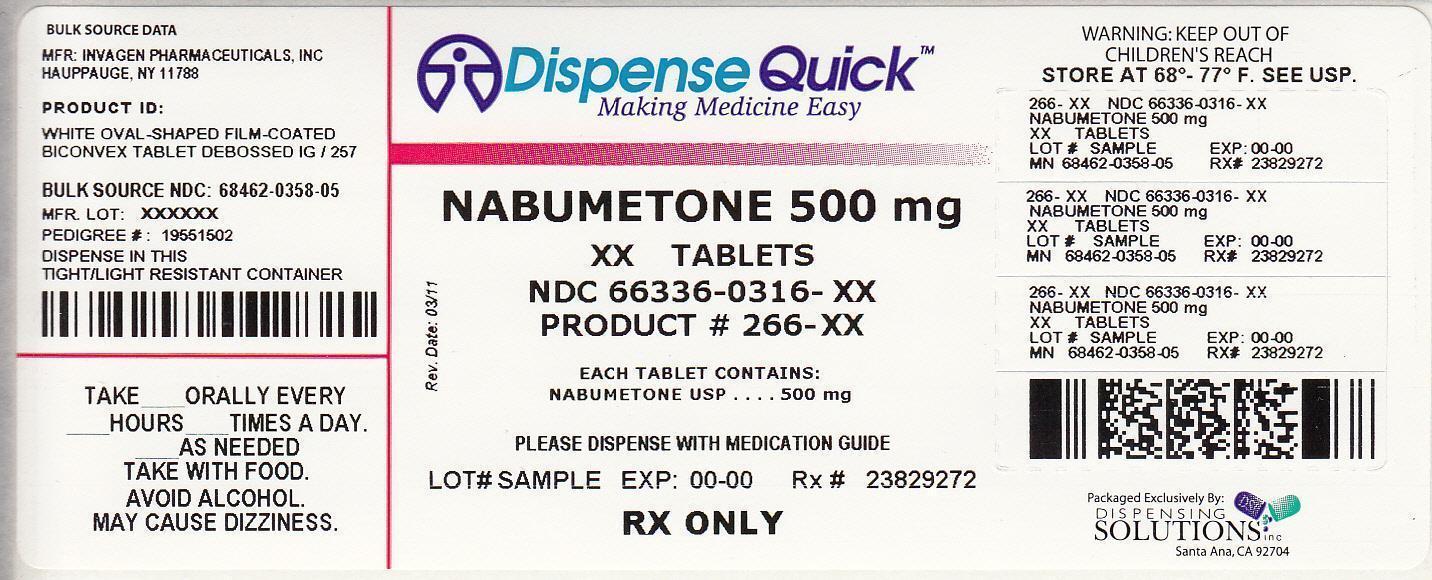 NDC 66336-0316-XX