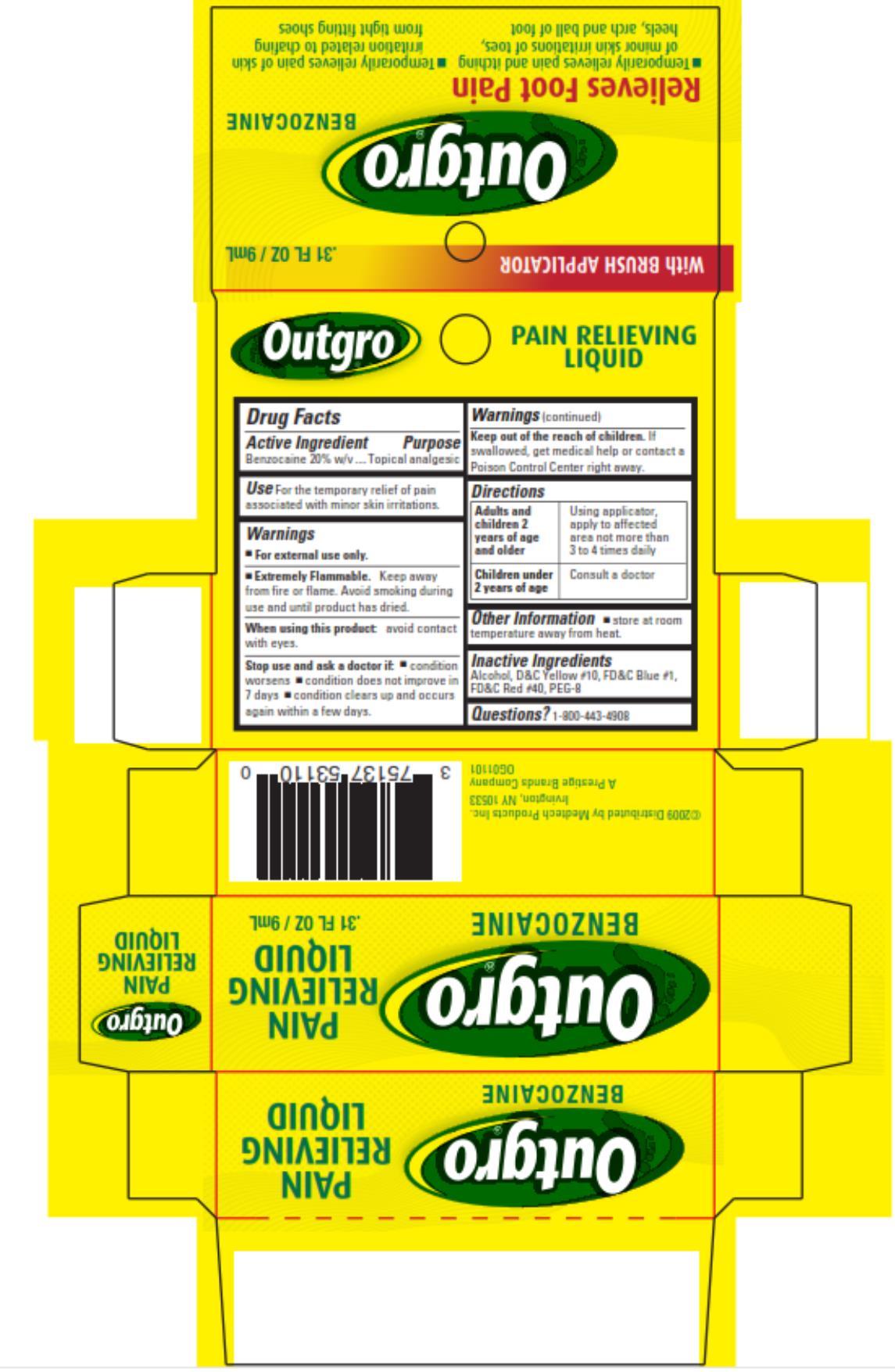Outgro (Benzocaine) Liquid [Medtech Products Inc.]