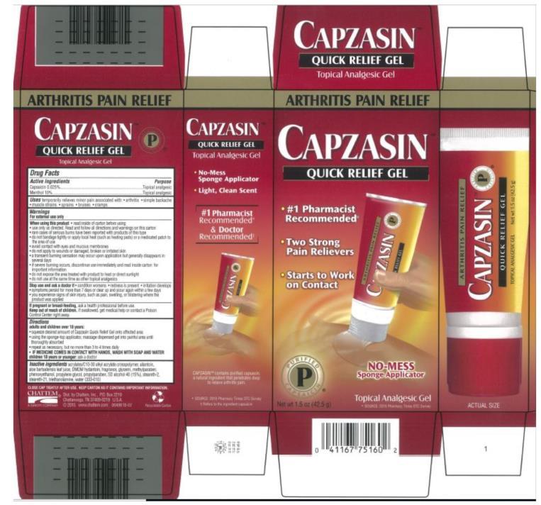 Capzasin Quick Relief (Capsaicin And Menthol) Gel [Chattem, Inc.]