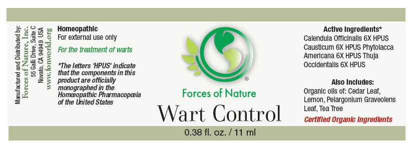 Wart Control (Calendula Officinalis Flowering Top, Causticum, Phytolacca Americana Root, And Thuja Occidentalis Leafy Twig) Solution/ Drops [Forces Of Nature]