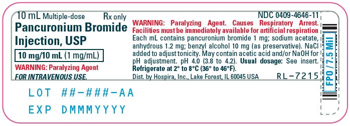 PRINCIPAL DISPLAY PANEL - 10 mL Vial Label