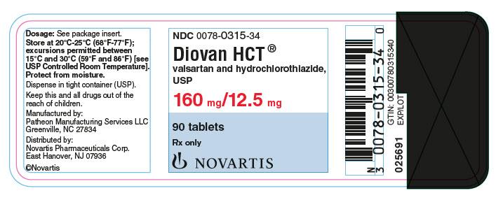 Diovan Hct (Valsartan And Hydrochlorothiazide) Tablet, Film Coated [Novartis Pharmaceuticals Corporation]