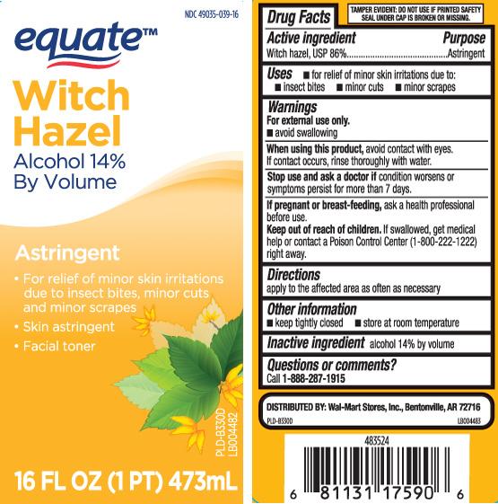 Witch Hazel Liquid [Equate (Walmart Stores, Inc.)]