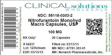 Nitrofurantoin Monohydrate/ Macrocrystalline (Nitrofurantoin Monohydrate/macrocrystalline) Capsule [Clinical Solutions Wholesale]