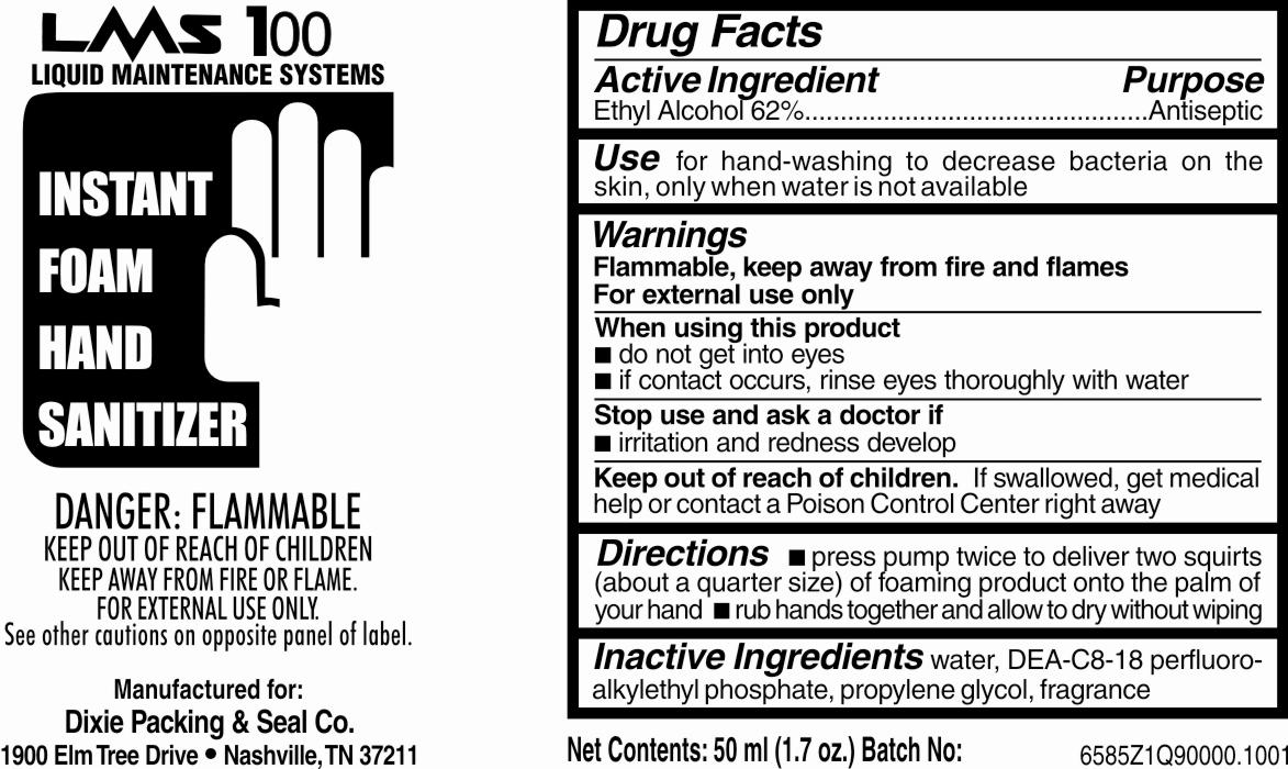 Instant Foam Hand Sanitizer (Alcohol) Liquid [Dixie Packing & Seal Company]