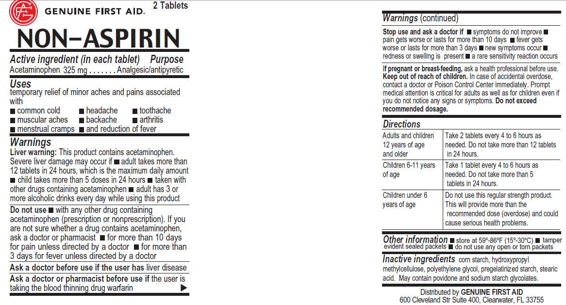 Non-aspirin (Acetaminophen) Tablet [Genuine First Aid Llc]
