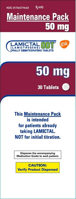 W:\Establishment Reg & Drug Listing\R5 GSK Rx\Lamictal\10000000146531 Lamictal ODT 50mg 30 count maintenance pack carton