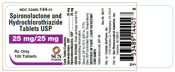 Spironolactone And Hydrochlorothiazide Tablet [Mutual Pharmaceutical Company, Inc.]