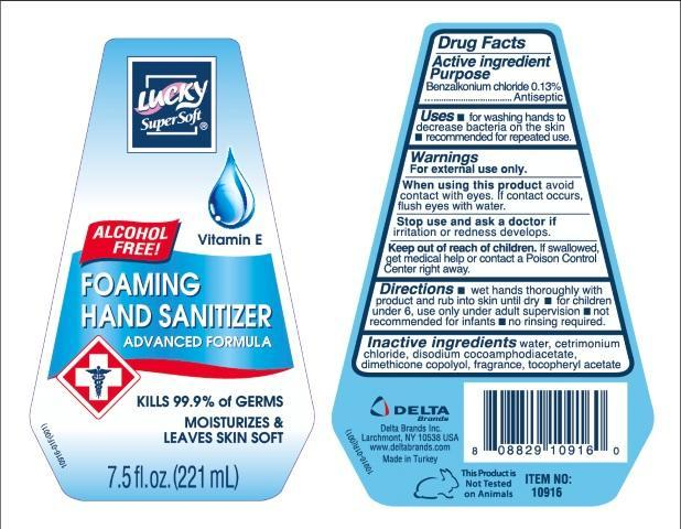 Lucky Supersoft Foaming Hand Sanitizer (Benzalkonium Chloride) Liquid [Delta Brands, Inc]
