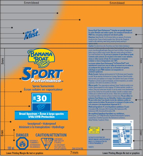 PRINCIPAL DISPLAY PANEL Banana Boat Sport Performance SPF 30 Canada