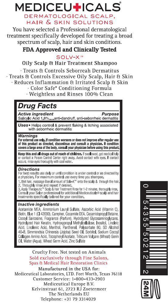Solv X (Salicylic Acid) Shampoo [Mediceutical Laboratories, Ltd]