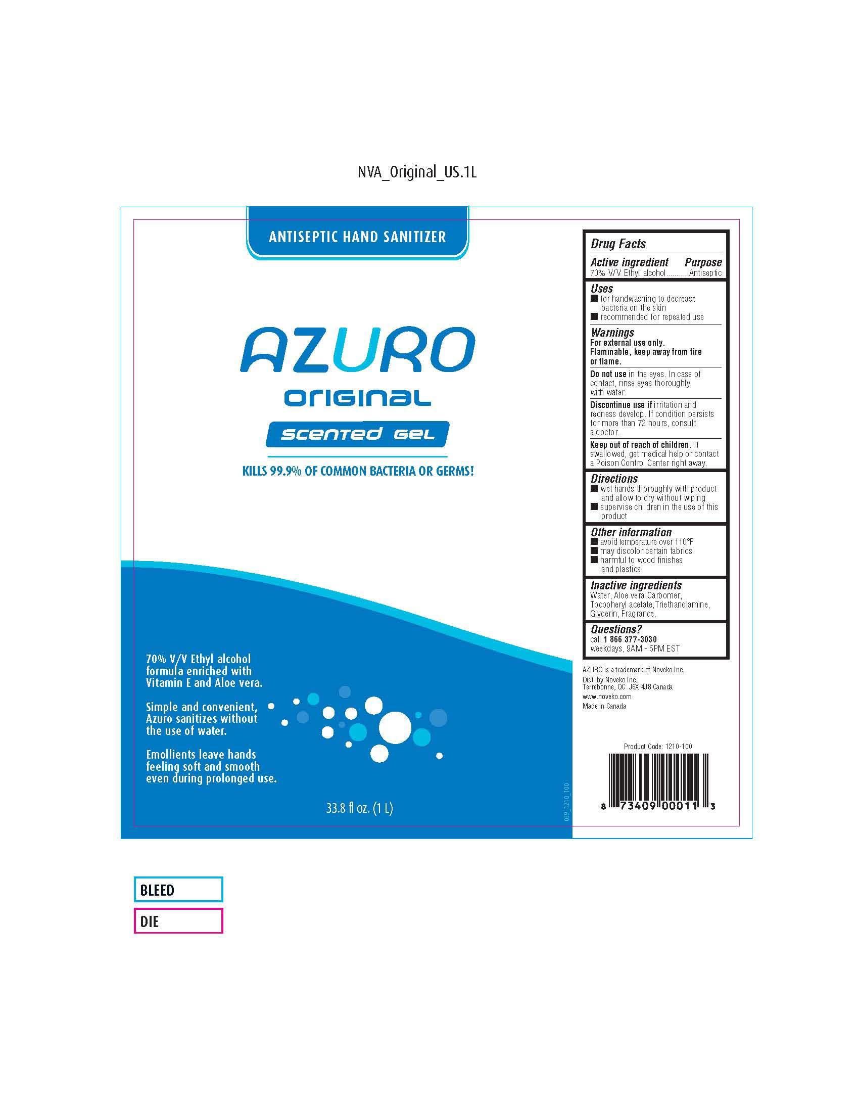 Azuro (Alcohol) Gel [Noveko Inc]