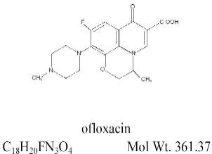 OFLOXACIN STRUCTURE IMAGE