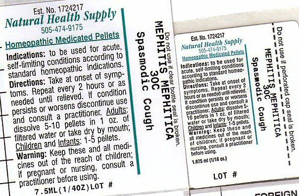 Spasmodic Cough (Mephitis Mephitis Anal Gland Fluid) Pellet [Natural Health Supply]