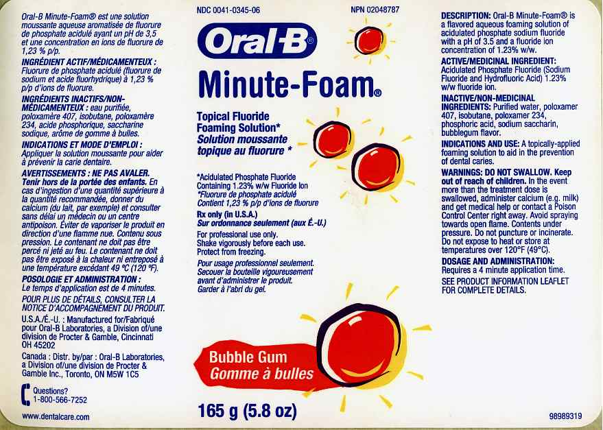 Oral-b Minute-foam Bubble Gum (Acidulated Phosphate Fluoride) Aerosol [Oral-b Laboratories]