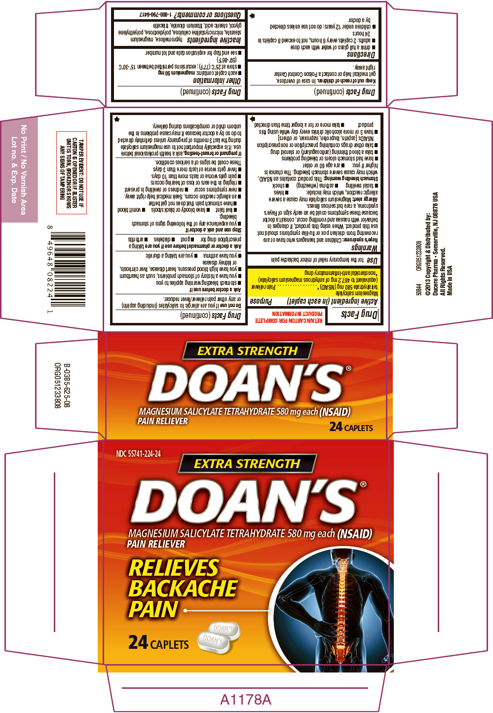 Doans Extra Strength (Magnesium Salicylate) Tablet [Ducere Pharma Llc]