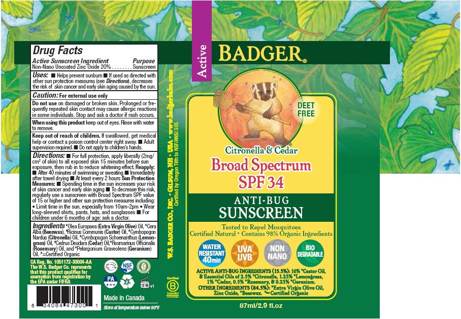 Badger Spf 34 Anti-bug Sunscreen (Zinc Oxide) Cream [Norwood Packaging Ltd.]
