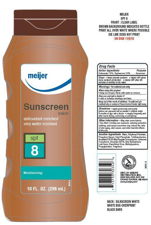 Meijer Suscreen Spf 8 (Octinoxate, Oxybenzone) Lotion [Meijer Distribution Inc]