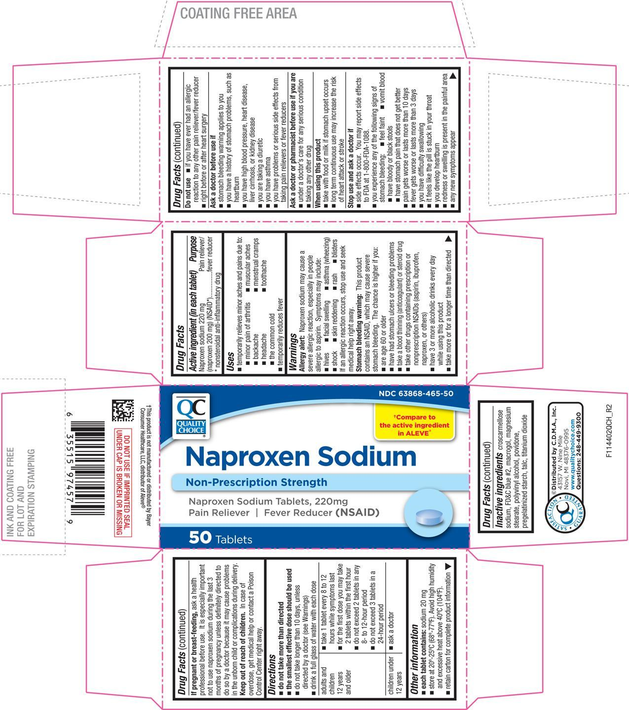 Naproxen Sodium Tablet, Coated [Chain Drug Marketing Association]