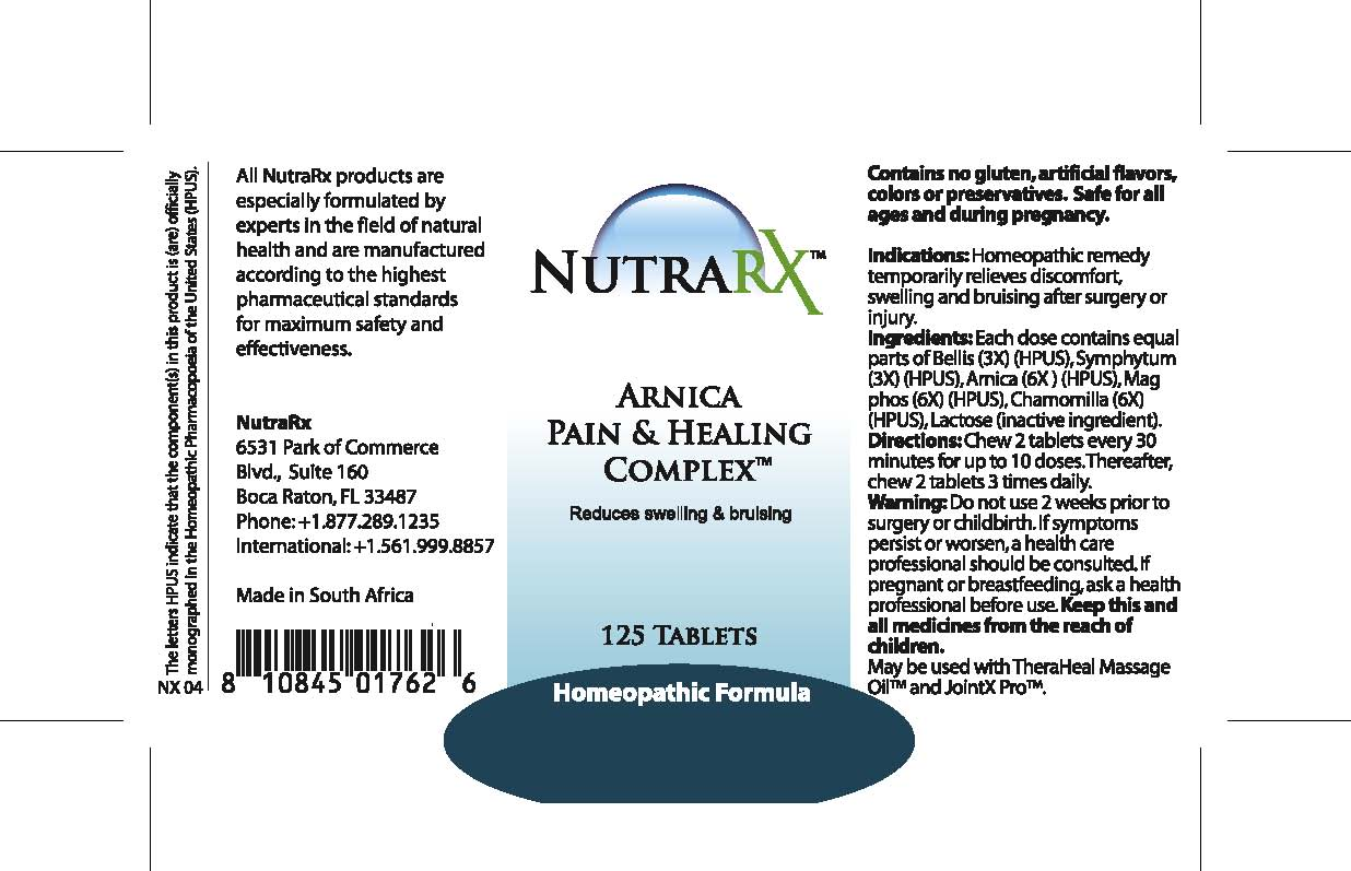 Nutra Rx Arnica Pain And Healing (Bellis, Symphytum, Arnica , Mag Phos, Chamomilla ) Tablet [Feelgood Health]