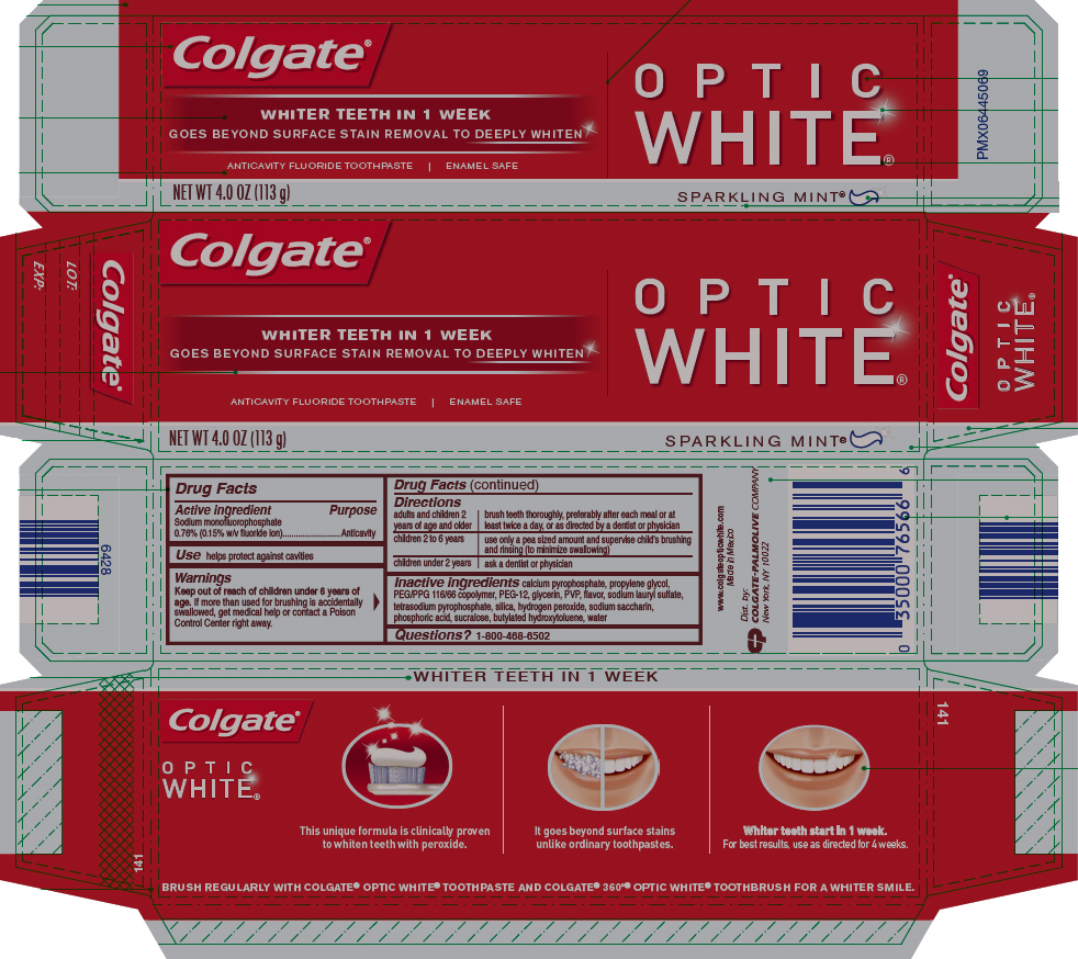 Colgate Optic White Sparkling Mint (Sodium Monofluorophosphate) Paste, Dentifrice [Mission Hills S.a De C.v]