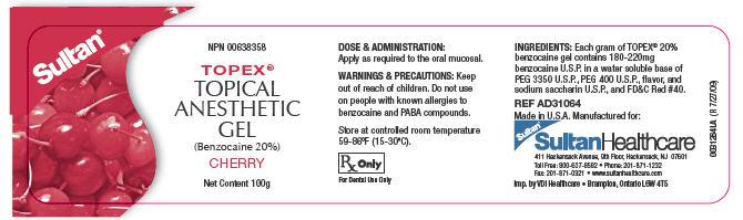 Topex (Benzocaine) Gel, Dentifrice [Dentsply Caulk]