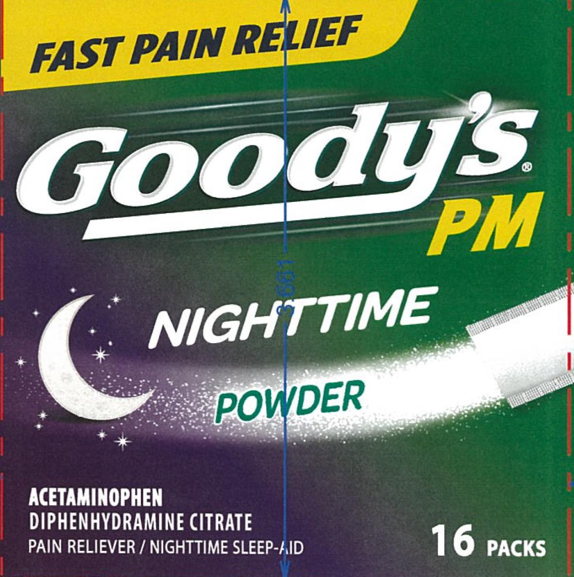 Goodys Pm Pain Reliever (Acetaminophen And Diphenhydramine Citrate) Powder [Medtech Products Inc.]