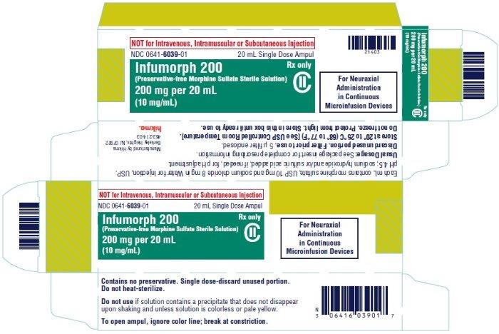 Infumorph 200 (Morphine Sulfate) Injection, Solution Infumorph 500 (Morphine Sulfate) Injection, Solution [West-ward Pharmaceutical Corp.]