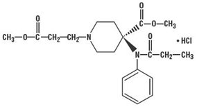 Remifentanil Hydrochloride Structural Formula