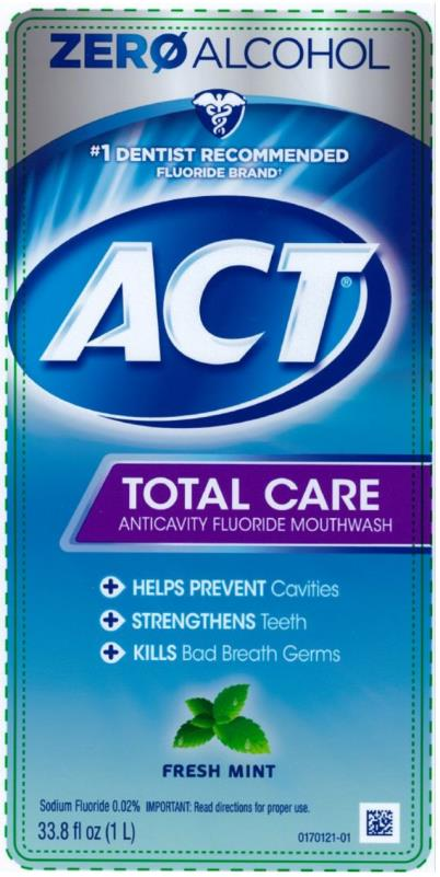 Act Total Care Anticavity Fluoride Fresh Mint (Sodium Fluoride) Rinse [Chattem, Inc.]